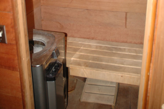Built in sauna