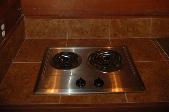 Downstairs stove top